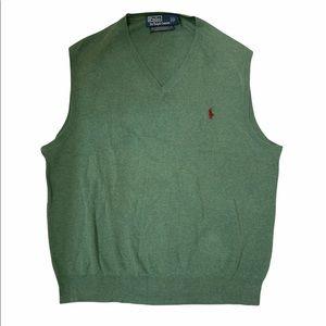 Polo Ralph Lauren Sweater Vest Pima Cotton Large